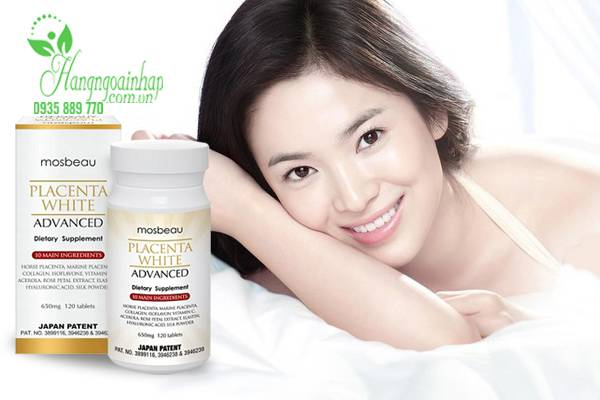 vien-uong-trang-da-&-tri-nam-mosbeau-placenta-white-advanced