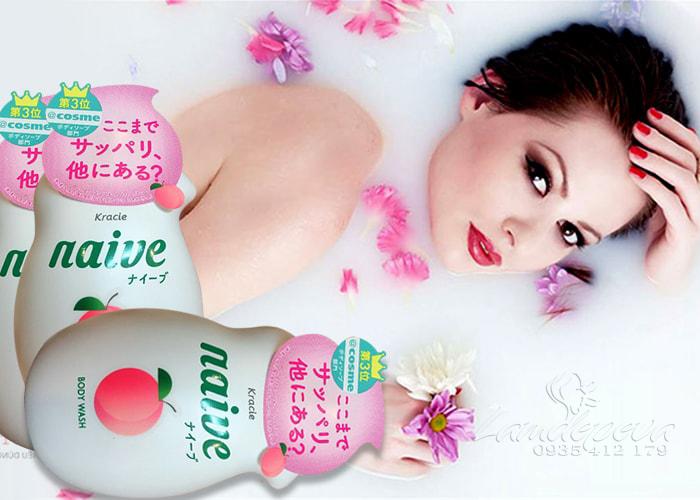 sua-tam-duong-da-kracie-naive-body-wash-530-ml-nhat-ban-3eva