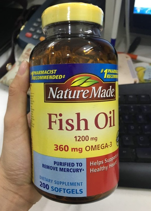 Dầu cá Nature Made Fish Oil Omega 3 1200mg Review