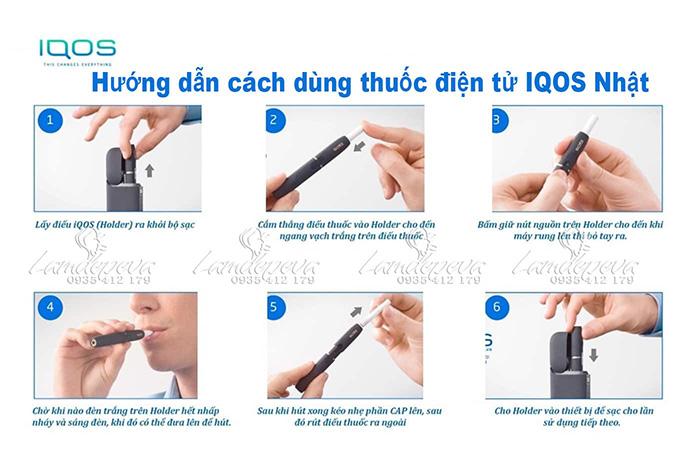 Hướng dẫn dùng máy hút thuốc IQOS 2.4 plus của Nhật Bản