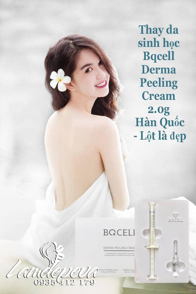Thay da sinh học Bqcell Hàn Quốc Peeling Derma Cream 2.0g công dụng