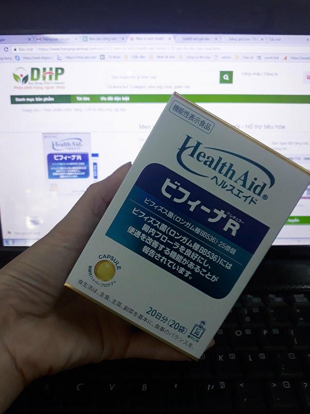 mua men vi sinh hỗ trợ tiêu hóa Health Aid Japan 1