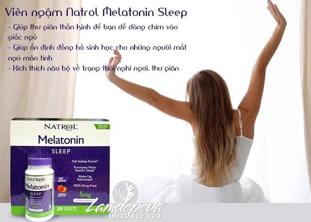 Viên ngậm Natrol Melatonin Sleep 5mg của Mỹ  1