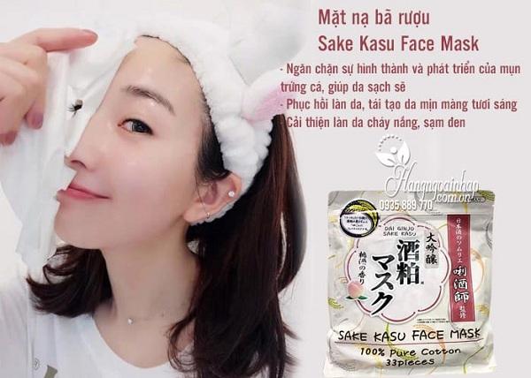 Mặt nạ bã rượu Sake Kasu Face Mask 33 miếng1