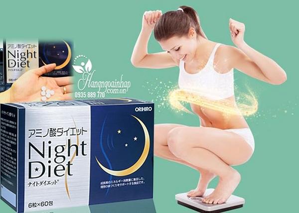 Viên uống giảm cân Night Diet Orihiro Nhật Bản - Hộp 60 gói 3