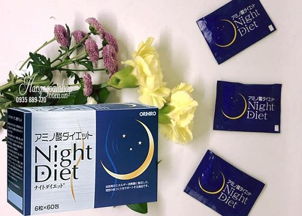 Viên uống giảm cân Night Diet Orihiro Nhật Bản - Hộp 60 gói 1
