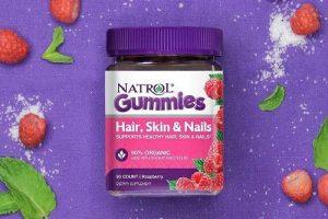 Kẹo dẻo Natrol Gummies Hair Skin Nails có tốt không-1