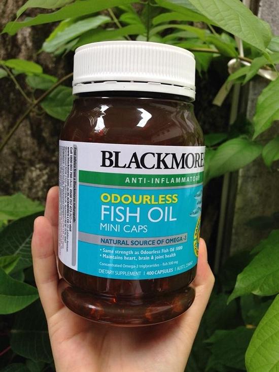 Dầu cá Blackmores Odourless Fish Oil Mini Caps 400 viên không mùi 1