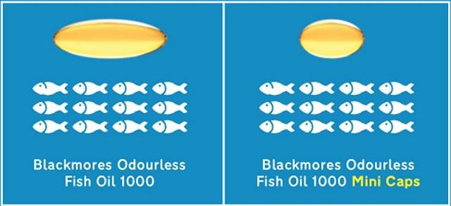 Dầu cá Blackmores Odourless Fish Oil Mini Caps 400 viên không mùi 3