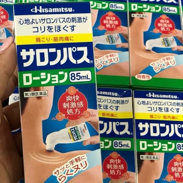 Chai lăn xoa bóp Hisamitsu 85ml giảm đau xương khớp của Nhật 3