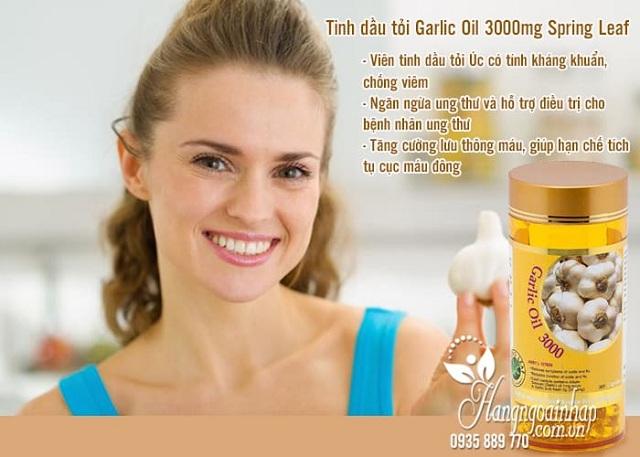 Tinh dầu tỏi Garlic Oil Úc Spring Leaf hộp 365 viên chính hãng 3