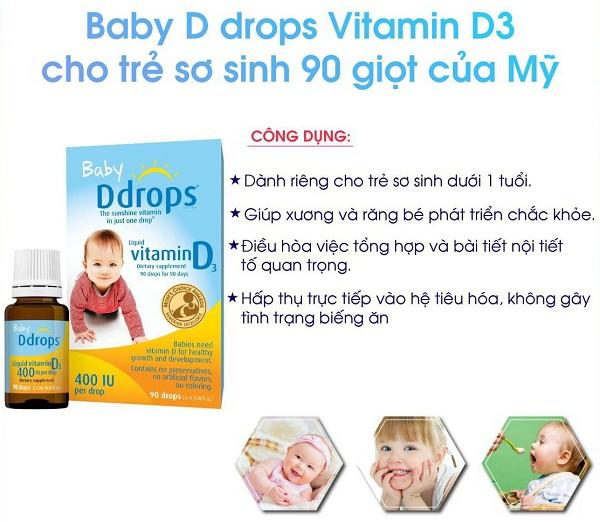 Vitamin D3 Drop của Canada - Baby DDrops Vitamin D3 5