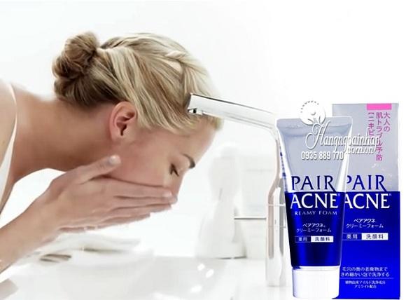 Sữa rửa mặt trị mụn Pair Acne Creamy Foam Nhật Bản 4