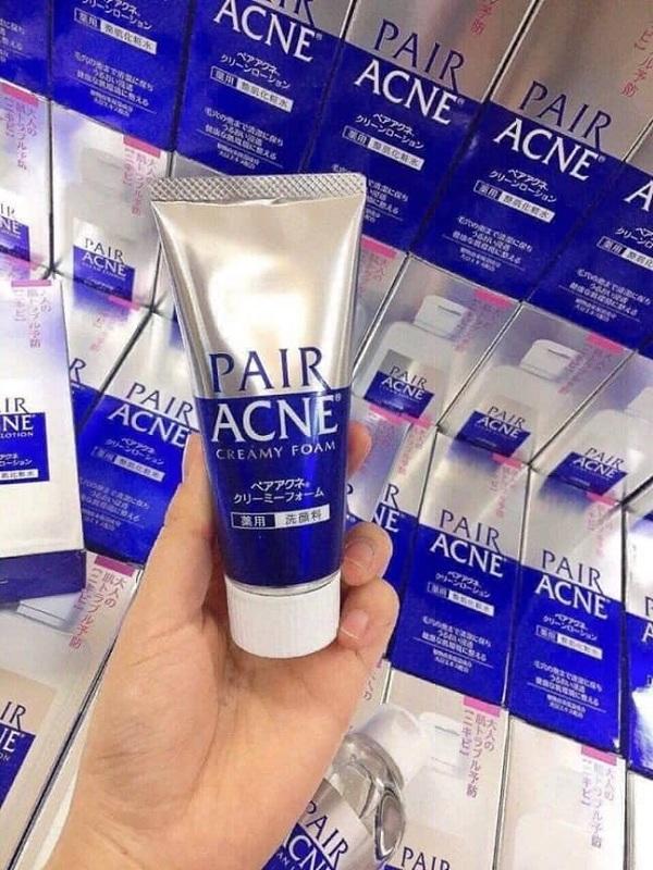 Sữa rửa mặt trị mụn Pair Acne Creamy Foam Nhật Bản 2