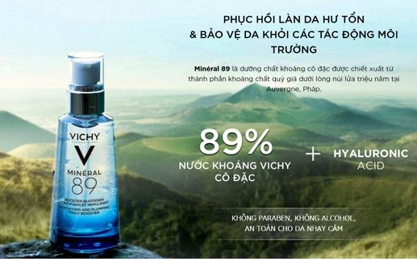Vichy Mineral 89 - Tinh chất khoáng cô đặc phục hồi da 1