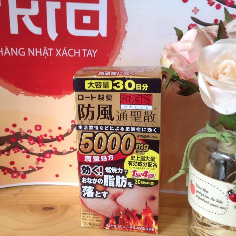 Thuốc giảm cân Rohto 5000mg, đặc trị mỡ bụng của Nhật 21