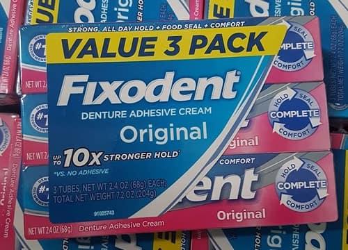 Keo dán răng giả Fixodent giá bao nhiêu? Mua ở đâu chính hãng?