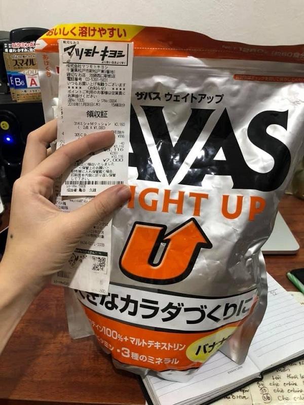 Sữa tăng cân cho người lớn của Nhật Bản Savas Weight Up 1