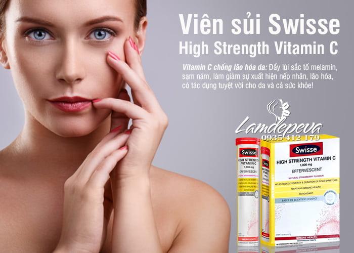 Viên Vitamin C sủi Swisse 1000mg của Úc hàm lượng cao 4