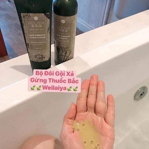 Bộ dầu gội xả gừng hà thủ ô Weilaiya giá bao nhiêu-2