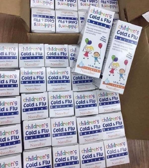 Thuốc Cold & Flu Natrabio 30ml trị cảm cúm cho trẻ sơ sinh 5