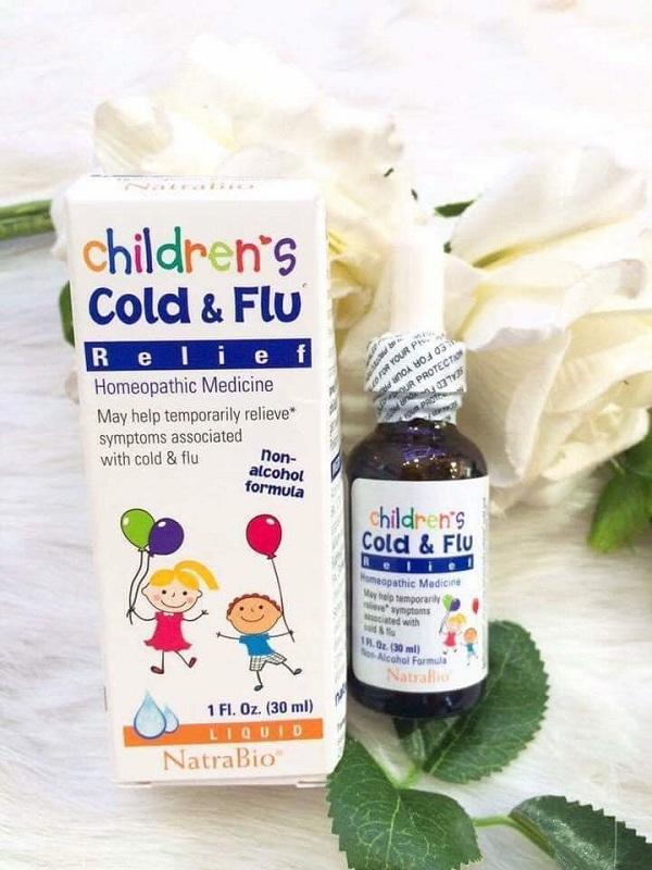 Thuốc Cold & Flu Natrabio 30ml trị cảm cúm cho trẻ sơ sinh 1