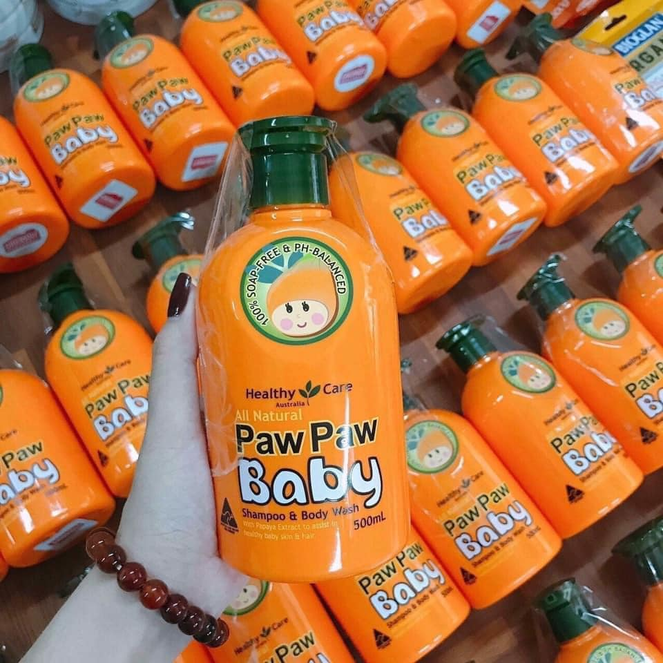 Sữa tắm gội 2 in 1 Paw Paw Baby Healthy Care từ đu đủ 9