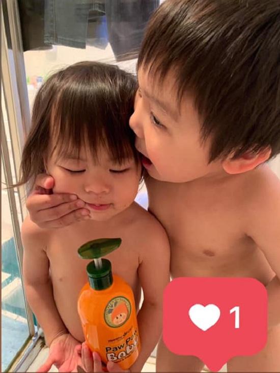Sữa tắm gội 2 in 1 Paw Paw Baby Healthy Care từ đu đủ 5