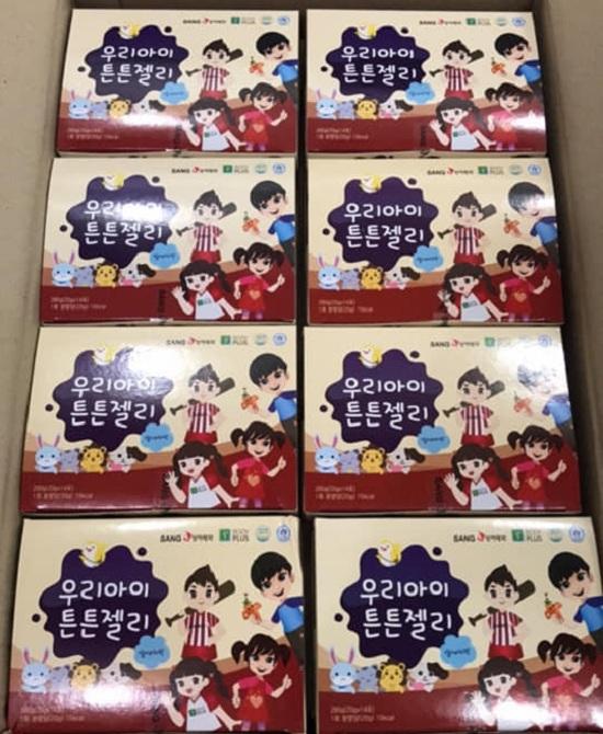 Thạch sâm Sanga Hàn Quốc cho trẻ em, hộp 14 gói x 20g 8
