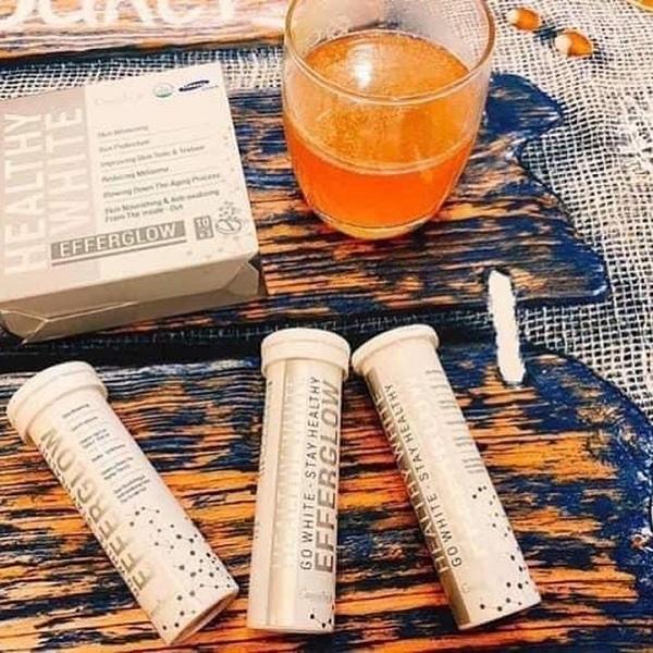 Viên uống trắng da Efferglow Healthy White Cosmeheal dạng sủi 1