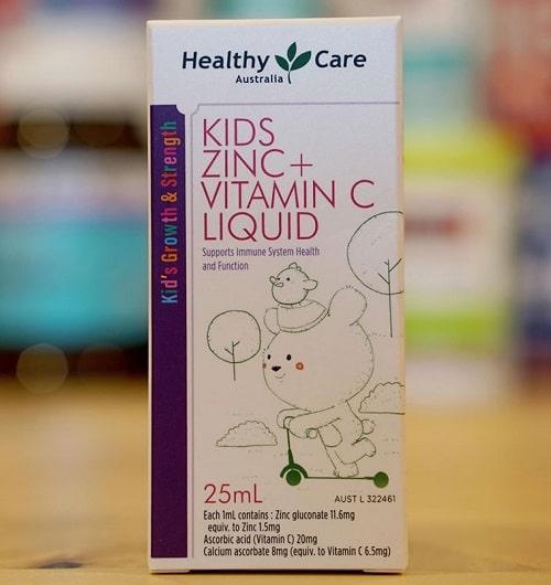 Công dụng của siro Healthy Care Kids Zinc + vitamin C Liquid-3