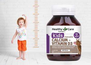 Viên nhai Healthy Care Calcium + Vitamin D3 giá bao nhiêu-1