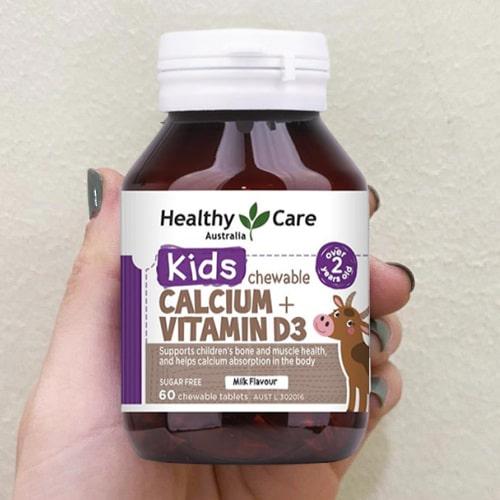 Viên nhai Healthy Care Calcium + Vitamin D3 giá bao nhiêu-2