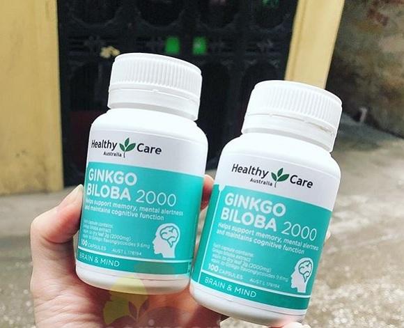 Bổ não Ginkgo Úc 2000mg Healthy Care 100 viên mẫu mới 2020 8