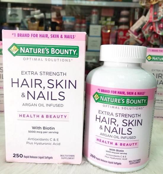 Nature's Bounty Hair, Skin & Nails 250 viên chính hãng Mỹ 5