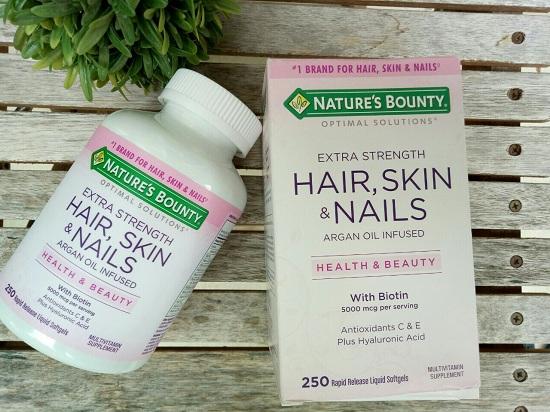 Nature's Bounty Hair, Skin & Nails 250 viên chính hãng Mỹ 3