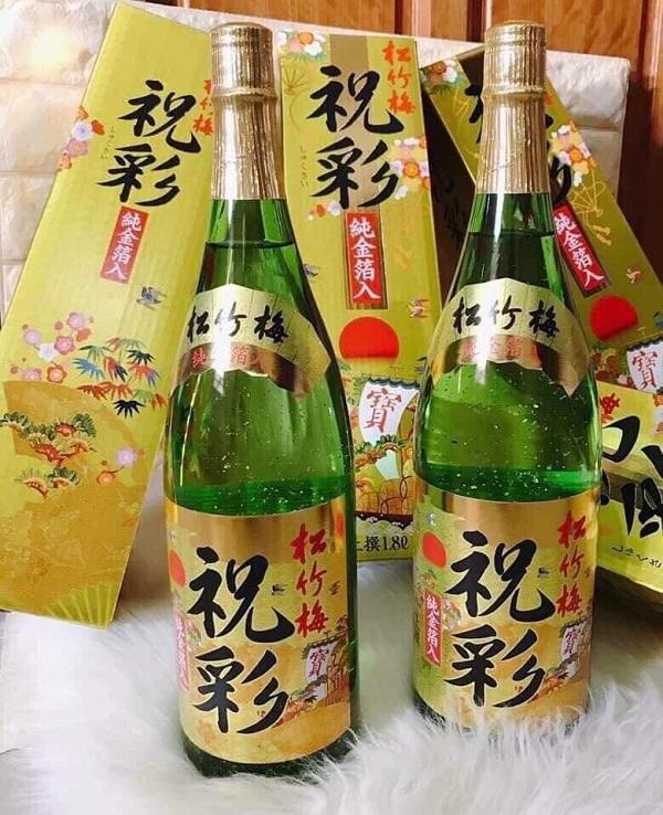 Rượu Sake vảy vàng Kikuyasaka Nhật Bản - Chai 1,8 lít giá tốt9