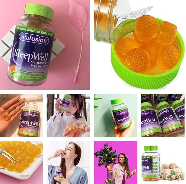 Kẹo ngủ Vitafusion Sleepwell Melatonin 3mg 250mg của Mỹ 5