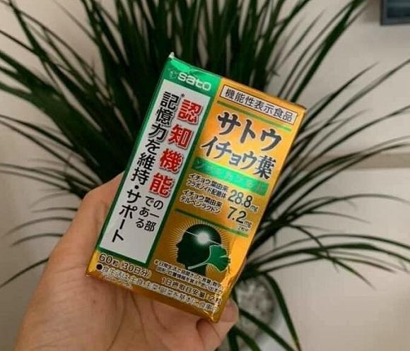 Viên uống bổ não Sato Nhật Bản hộp 60 viên - Hàng cao cấp 5