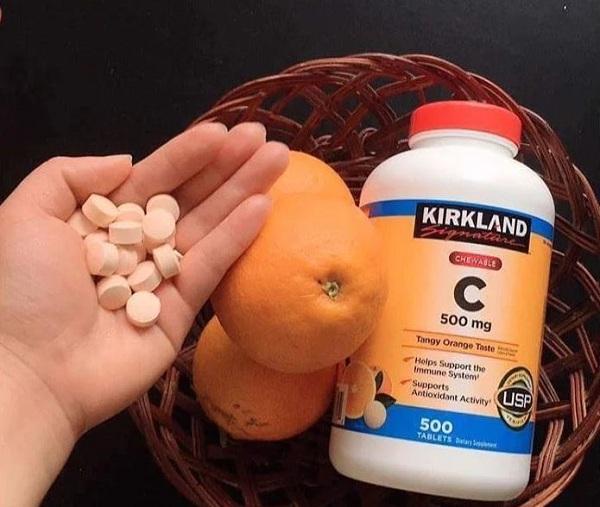Viên uống vitamin C 500mg Kirkland 500 viên của Mỹ 7