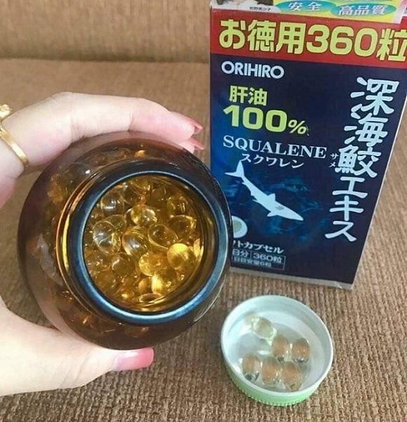 Địa chỉ mua dầu gan cá mập Squalene Orihiro 360 viên Nhật 4