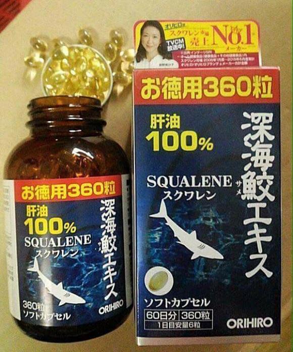 Địa chỉ mua dầu gan cá mập Squalene Orihiro 360 viên Nhật