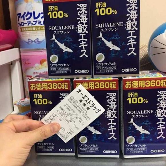 Địa chỉ mua dầu gan cá mập Squalene Orihiro 360 viên Nhật 7