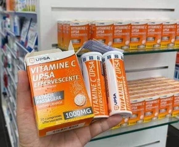 Viên sủi Vitamin C UPSA effervescente 1000mg Pháp chính hãng 9