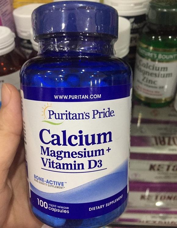 Viên uống Calcium Magnesium Vitamin D3 chính hãng Mỹ 100v 4